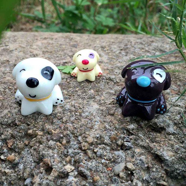 Mini Cartoon Dog Figurine