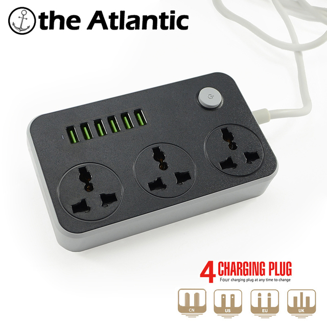HOT 3 UN CN power socket outlet 6 USB adapter wall charger dock 5V ...