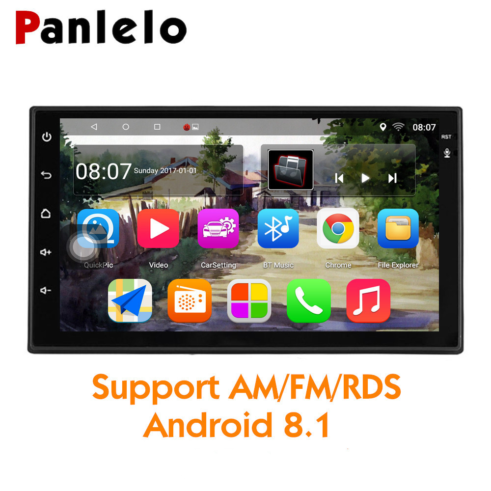 "Panlelo Autoradio 7"" 2 Din Android 8.1 Head Unit GPS 1024*600 1080P Quad Core 2din Android 8.1 Car Stereo Navigation Audio Radio"
