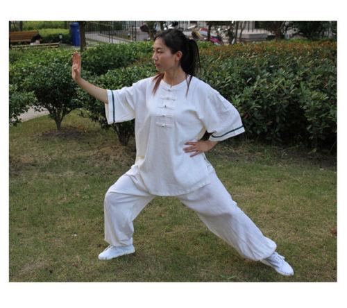 New  Women Tai Chi Uniform Martial Arts Kung Fu Linen Cotton Suits
