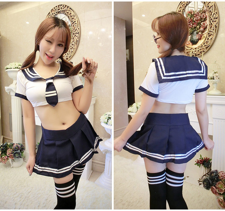 1pc Sexy Japanese Uniforms Navy Sailor Suit for Women Kansai Students in Sexy Costumes from Novelty Special Use