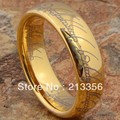 FREE SHIPPING!USA WHOLESALES CHEAP PRICE BRAZIL RUSSIA CANADA UK HOT SELLING 8MM GOLD LOTR THE LORD MEN'S TUNGSTEN WEDDING RING