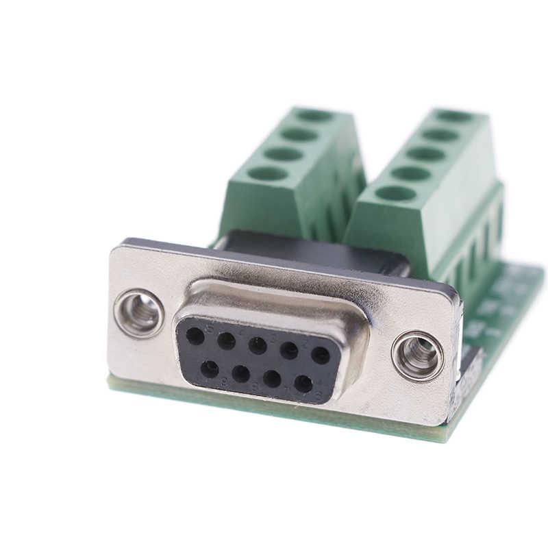 DB9 男性女性アダプタ信号端子モジュール RS232 シリアル DB9 コネクタ