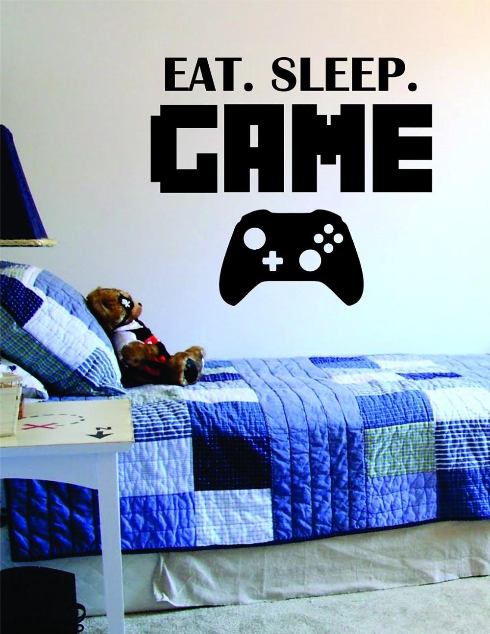 Cute Boys Play Room Vinyl Wall Decal Eat Sleep Game