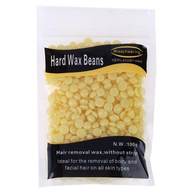 1 กระเป๋า 100 กรัมน้ำผึ้งรสชาติ Depilatory Wax Beans เม็ดบราซิลร้อนฟิล์มเม็ดแว็กซ์บิกินี่ผมกำจัด Bean สำหรับชายหรือหญิง