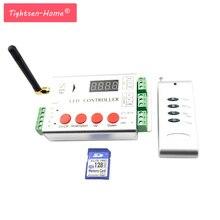 1000D светодиодный пиксель контроллер SD карты программы 2048 пикселей RF контроллер dmx консоль TM1809 WS2811 ws2801 WS2812 DMX Светодиодная лента