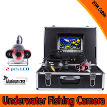 (1 Set) 20M Cable 7 inch Color Monitor HD surveillance system Underwater fishing camera Fish finder 2 PCS white LED Freeshippins