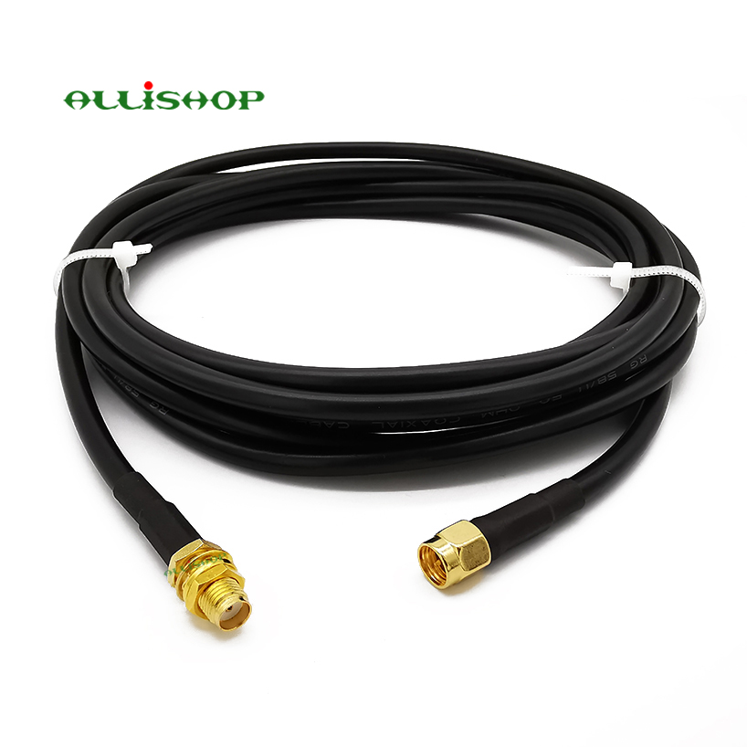 5 Meters Low-Loss Coax Extension Cable 50 Ohm SMA Male to SMA Female Antenna Lead Extender for 3G/4G/LTE/Ham/ADS-B/GPS/RF Radio5 Meters Low-Loss Coax Extension Cable 50 Ohm SMA Male to SMA Female Antenna Lead Extender for 3G/4G/LTE/Ham/ADS-B/GPS/RF Radio