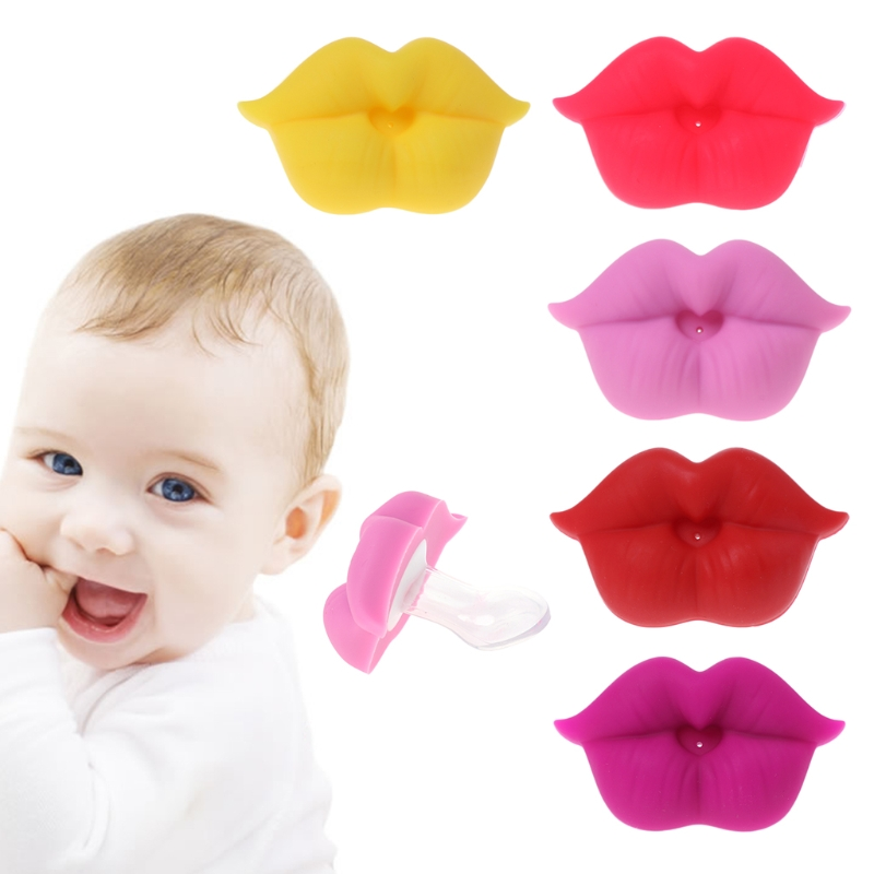 2018 New Baby Soother Silicone Pacifier Funny Lips Nipple Orthodontic For Infants Newborn