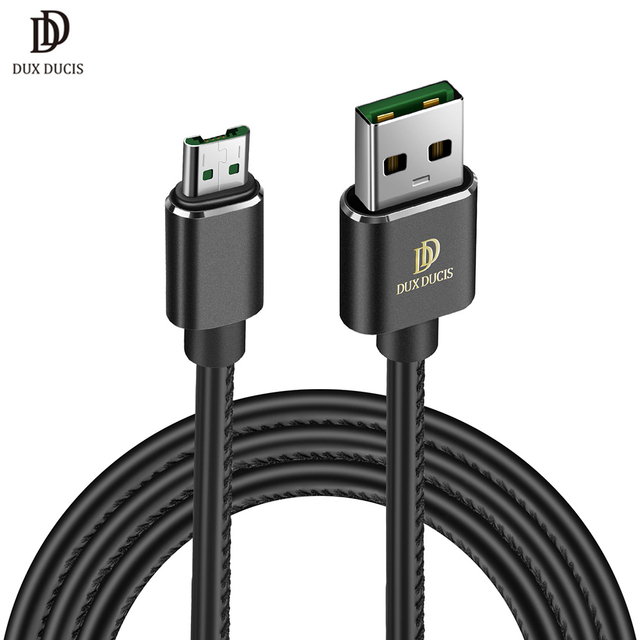 DUX DUCIS PU Leather Micro USB Cable Data Sync Fast Charging Cable for Samsung Xiaomi OPPO Android Tablet USB Wire Charger New