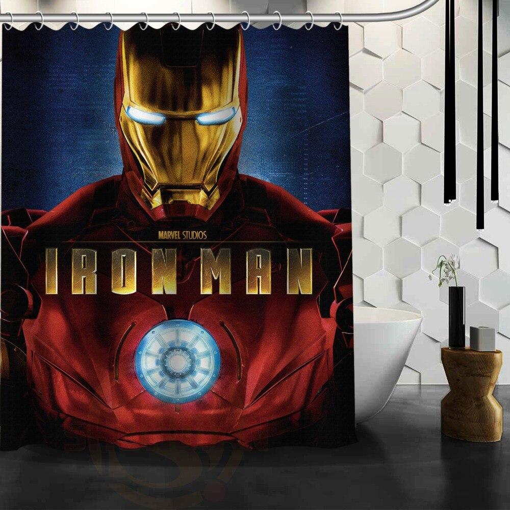 Marvel shower curtain - Avengers Iron Man Custom Shower Curtain Bathroom Decor Free Shipping 48x72 60x72 66x72