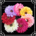 Free shipping!8 colors  for your choose  12pcs/lot  5''  daisy flower with hair clip and brooch pin