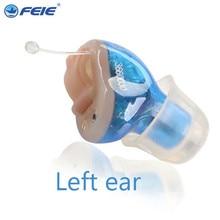 FEIE High tech Programmable digital Mini ear hearing amplifier  Standard CIC hearing aid S-16A DHL free shipping