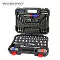 WORKPRO 101 Unid conjunto de herramientas Herramientas para coche herramientas de reparación de enchufes de trinquete llaves llave