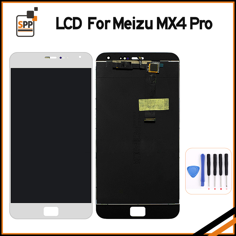 High Quality LCD Screen for Meizu Display Touch Digitizer Glass Assembly MX4 Pro Replacement Black White+Tool for letv le1 pro x800 lcd display monitor touch screen digitizer glass sensor assembly replacement parts high quality