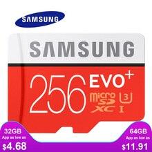 بطاقة ذاكرة سامسونج مايكرو SD 256GB 16GB 32GB 64GB 128GB SDHC SDXC الدرجة EVO + الفئة 10 C10 بطاقات UHS TF عبر فلاش ميكروسد جديد