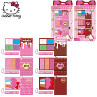 3PCS/SET Hello Kitty Makeup Sets 2019 New Girls Pretend Play Creative Chocolate Cookies Makeup Kits Safe Toy Kids Best Gifts