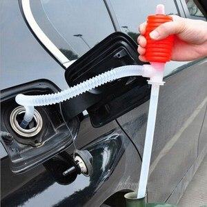 Image 2 - مضخة سيفون يدوية محمولة للسيارة خرطوم ضخ زيت الغاز السائل سيفون أداة مضخة نقل لسيارة شاحنة مضخة السائل للدراجات النارية
