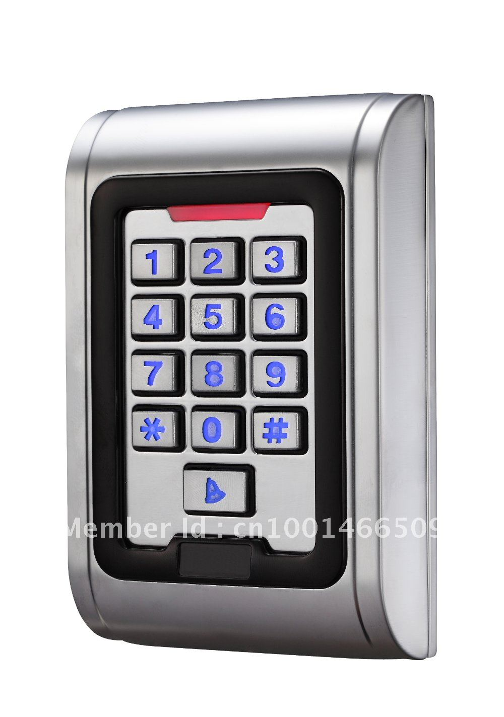 DWE CC RF Waterproof metal case keypad EM-ID wiegand 26 reader 002PDWE CC RF Waterproof metal case keypad EM-ID wiegand 26 reader 002P