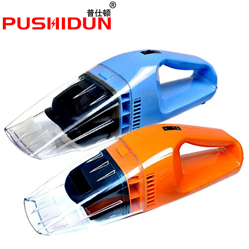 PUSHIDUN Car Vacuum Cleaner 120W Super Suction Portable Handheld Vacuum Cleaner Wet and Dry Dual Use for 12V Car With 3 Color