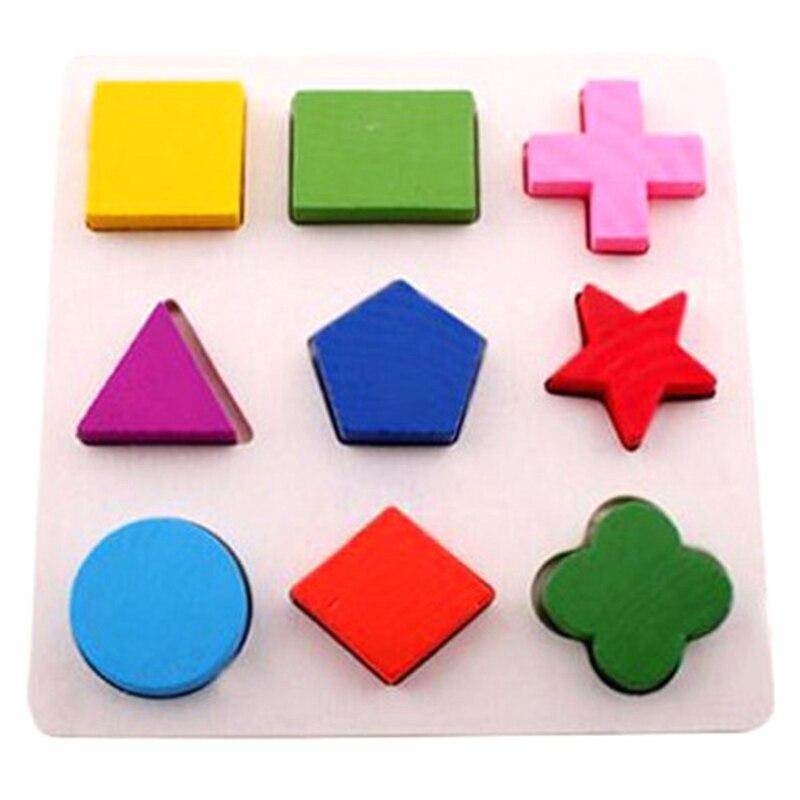 2018 3 вида стилей деревянный 3D Форма игрушка-головоломка раннего обучения Детские деревянные головоломки Паззлы Игрушечные лошадки подарки