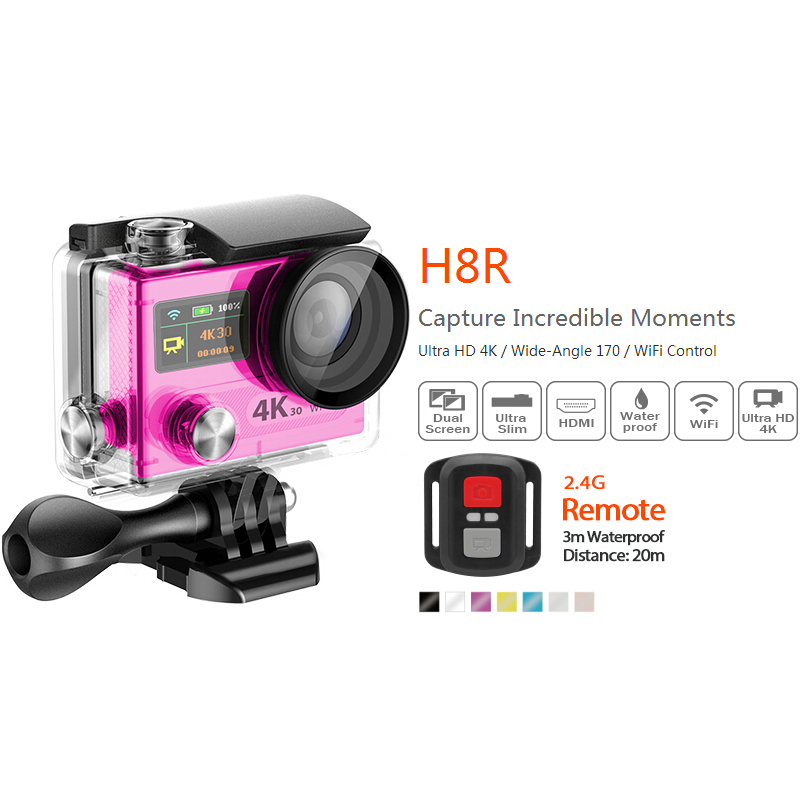 2017 new VR360 Ultra HD 170degree remote control 4K WIFI 30FPS 2.0 LCD Ultra-HD 1080P 60FPS 14MP Sport Video Waterproof Camera 2017 arrival original eken action camera h9 h9r 4k sport camera with remote hd wifi 1080p 30fps go waterproof pro actoin cam