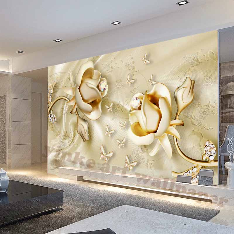 Home decor 3d photo wallpaper for living room water for Home decor 3d wallpaper