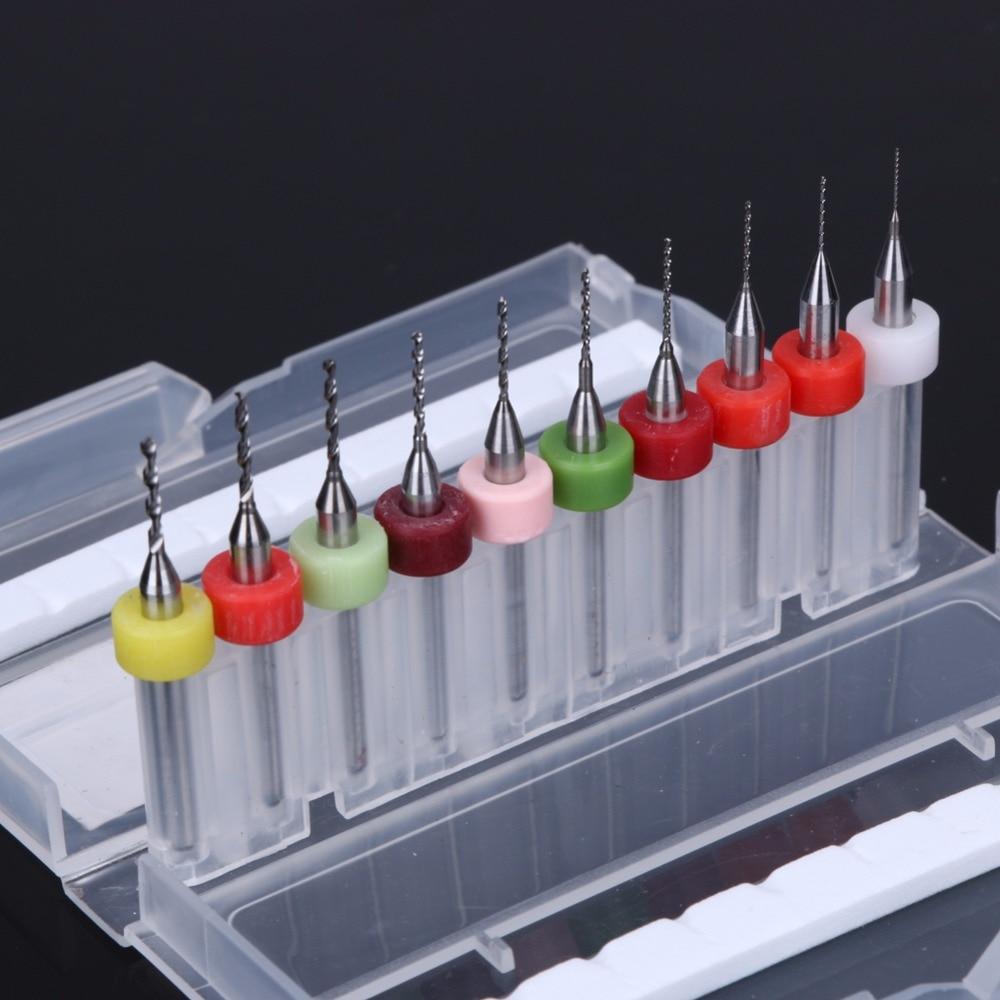 10pcs / set 38mm Micro mini punte per trapano per PCB set di utensili - Punta da trapano - Fotografia 3
