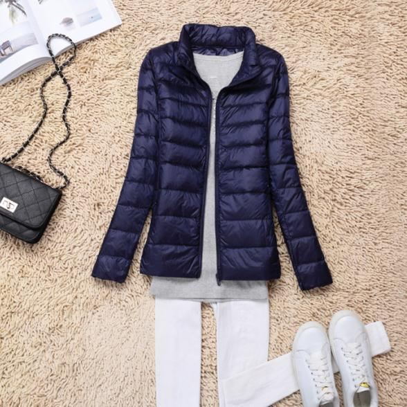 Sanishroly 2018 New Autumn Winter Women Thin White Duck Down Jacket Parka Female Ultra Light Down Coat Short Tops Plus Size S268 7