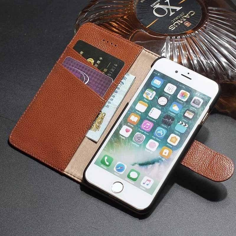 İPhone 7 üçün ən yeni hallar iPhone 6 üçün Orijinal dəri - Cib telefonu aksesuarları və hissələri - Fotoqrafiya 3