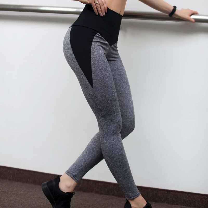Leggings de yoga sem cintura alta feminina,