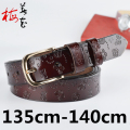 NEW Designer Womens Belt High Quality Genuine Leather Belts For Woman Lady Pin Buckle Big Size Pants Strap Cinto Feminino Largos