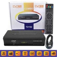 KOQIT FTA Digital Terrestrial Satellite DVB-T2 DVB-S2 Combo Receiver Decoder AC3 TV Tuner IPTV m3u iks Key Cline Youtube Wifi