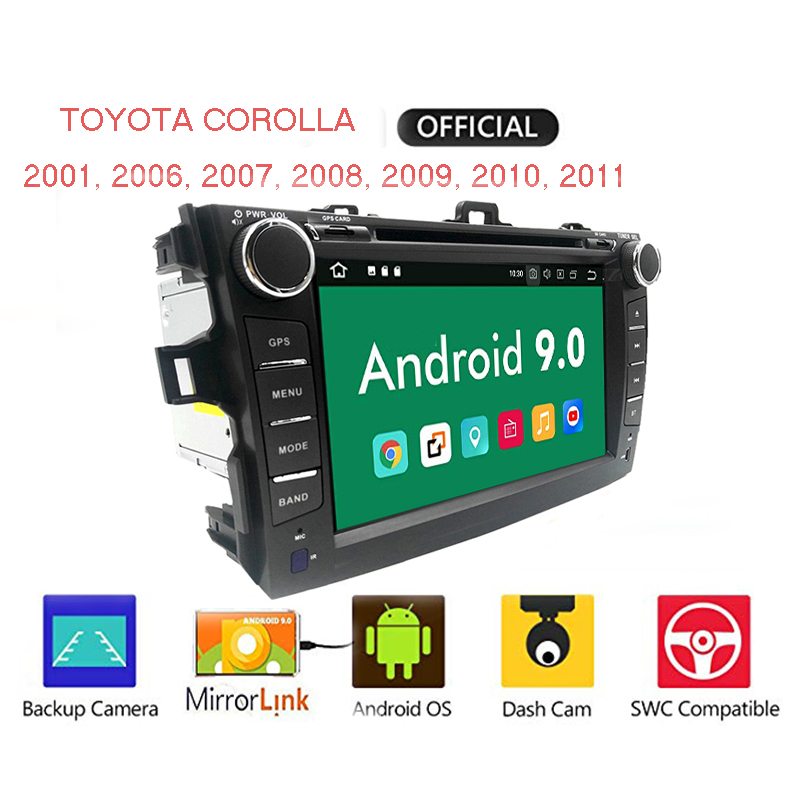 2 din Android 8.1 <font><b>Car</b></font> radio DVD <font><b>car</b></font> auto <font><b>drive</b></font> for <font><b>Toyota</b></font> corolla 2008 to 2007, 2009, 2010, 2011 audio Multimedia Wifi image