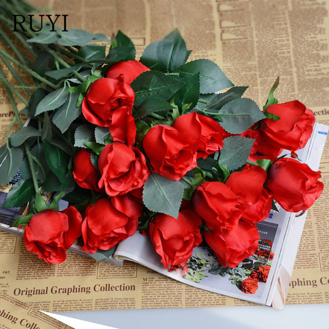 Love Gift Full House Artificial Mix Silk Rose Decorative Flowers