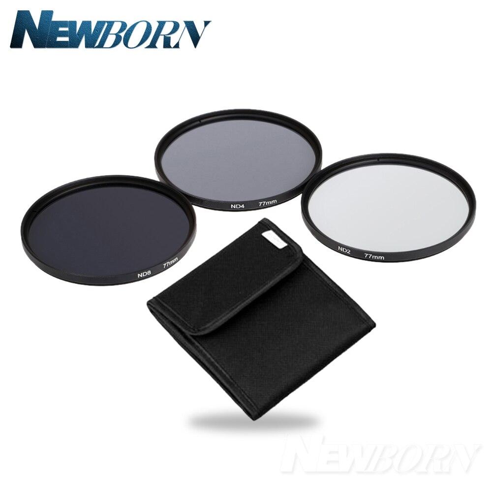 Lenti della fotocamera Filtro ND 49mm 52mm 55mm 58mm 62mm 67mm 72mm 77 MM Neutral Density Filter Lens Set Kit ND2 ND4 ND8 ND 2 4 8