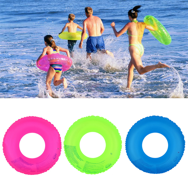 Logical New Durable Adult Children's Color Random Summer Outdoor Inflatable Fluorescent Swimming Pool Circle Swimming Ring Float Pontoon A Plastic Case Is Compartmentalized For Safe Storage