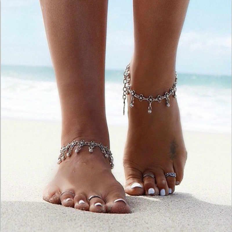 Ankle Bracelet Summer Style Bohemian Vintage Silver Coin Anklets ...