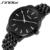 2016 SINOBI marca homens relógios de quartzo completa aço preto Business Casual faixa japão relógio de pulso de ouro relógios presente simples