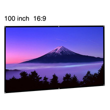 "CAIWEI HD Portable Projector Screen 100 inch Foldable Home Cinema Indoor Outdoor Movie 100"" Projection Screen 16:9 for business"
