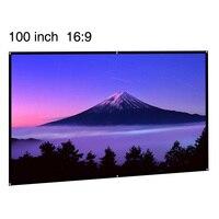 CAIWEI HD Draagbare Projector Scherm 100 inch Opvouwbare Home Cinema Indoor Outdoor Film 100
