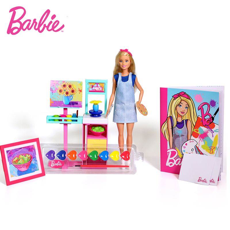Original Barbie Little Artist Of Barbie Princess Girl Doll Suit American Girl Doll Birthday Gift Toys For Children Girls FRL35 цена