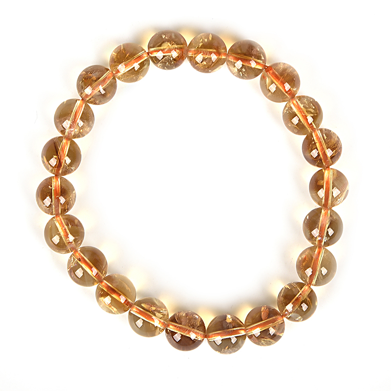 Golden Size For 8.5mm Yellow Topaz circle transparent gem Making Diy Elegant Bracelet 7.5inch For Anniversaries Gift H200