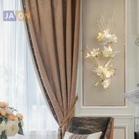 g4 led American Postmodern Copper Glass Maple Leaves LED Lamp LED Light Wall lamp Wall Light Wall Sconce For Foyer Bedroom