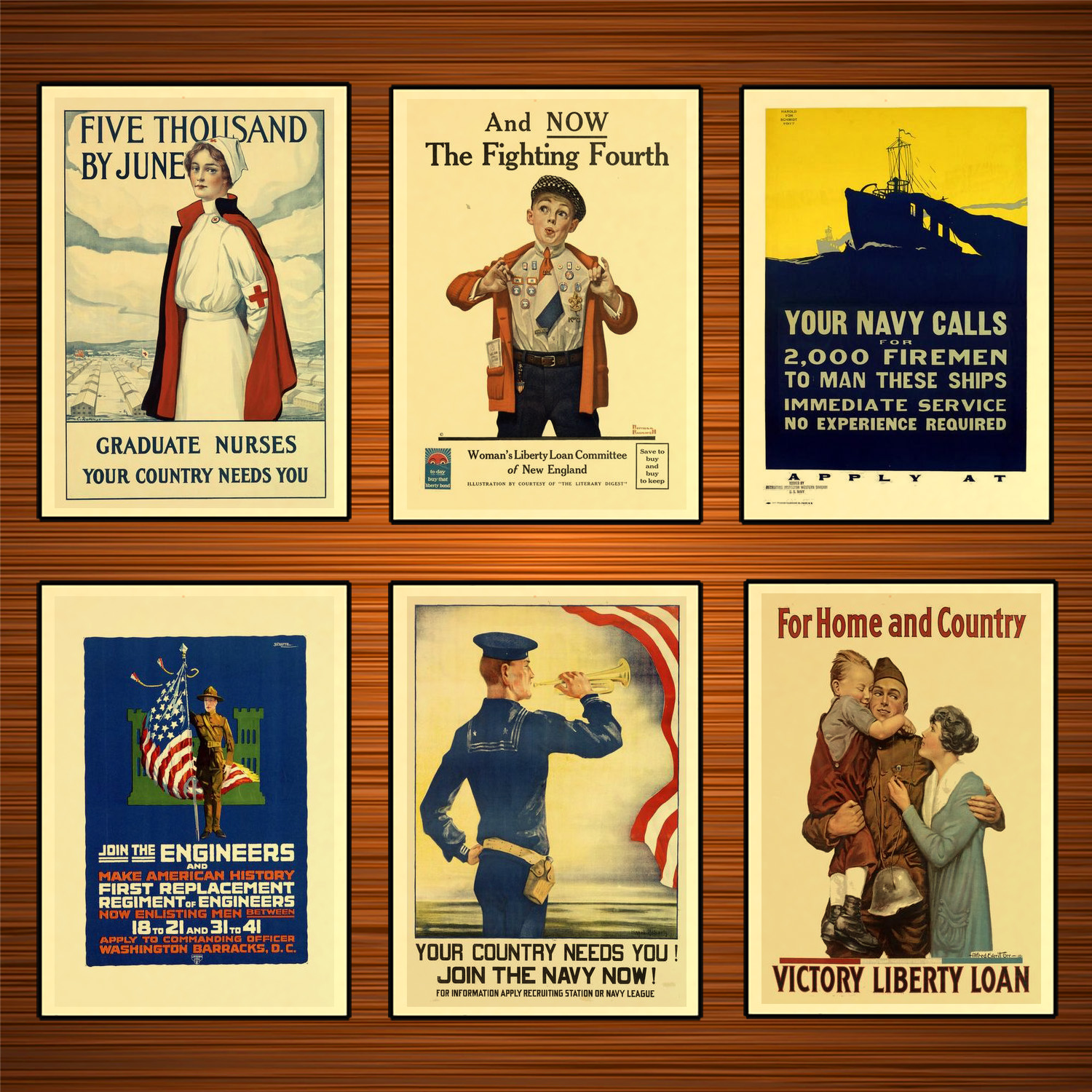 Vintage 1910s USA WW1 Propaganda Poster Graduate Nurses Country Needs You Classic Canvas Paintings Wall Stickers Home Decor Gift image