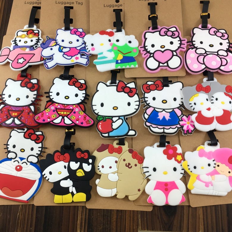 2018 Rushed Mala Luggage Cover Travel Accessories For KT Cartoon Tag Suitcase Label Id Address Holder Baggage Boarding
