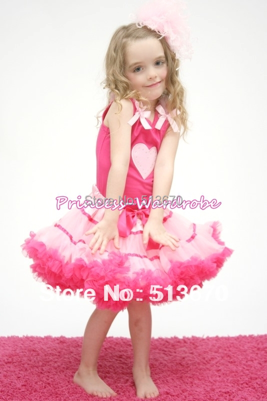 VALENTINE Light Pink Heart shirt with Hot Light Pink Trims Pettiskirt Girl Clothing Outfit MAMM126 8x10ft valentine s day photography pink love heart shape adult portrait backdrop d 7324