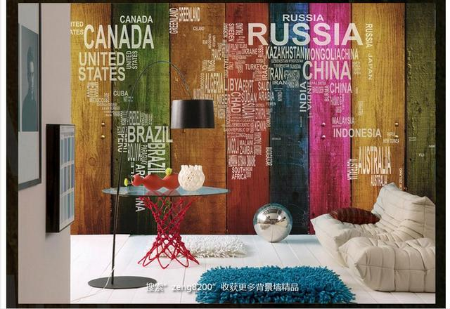 Free shipping high quality custom 3d wallpaper mural alphabetic free shipping high quality custom 3d wallpaper mural alphabetic world map color tv setting wall board gumiabroncs Choice Image