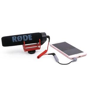Image 5 - Boya mikrofon TRS TRRS adaptör kablosu yol Videomicro 3.5MM iPhone 7 için 8 X XR XS 11 pro Max Samsung S10 artı