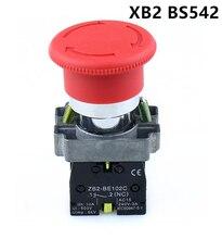 цена на High Quality XB2-BS542 22mm NC Red Mushroom Emergency Stop Push Button Switch